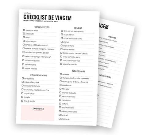Checklist de viagem para imprimir - grátis!